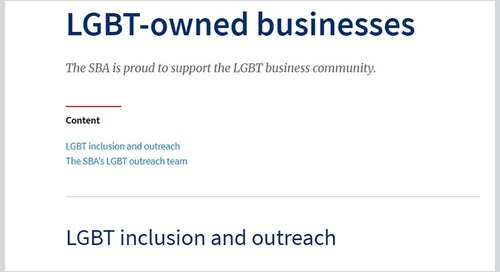 SBA Restores LGBTQ Resources to Its Website