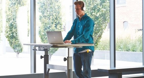 Office Ergonomics: The Benefits of a Sit/Stand Workstation