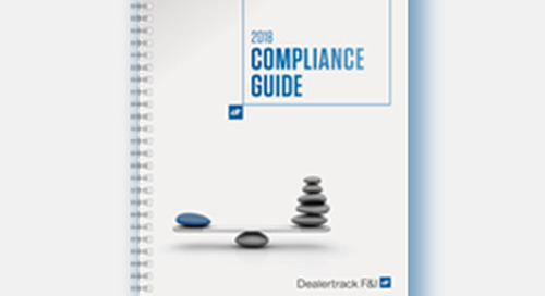 Compliance with Confidence: Introducing the 2018 Dealertrack Compliance Guide