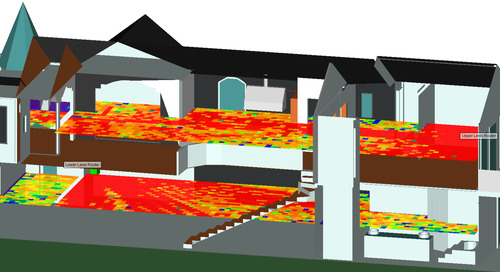 WiFi Performance Simulation in a House with Two Routers