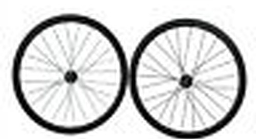 25mm width, Disc Brake hub 38mm tubular carbon Cyclocross bike wheelset