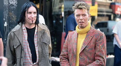 "David Bowie & Trent Reznor ""Hurt"" Together…"