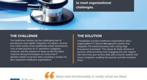 ChangeGear: Solutions for Healthcare