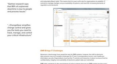 ChangeGear: Healthcare Solution Brief