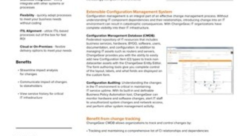 ChangeGear Asset & Configuration Management (CMDB)