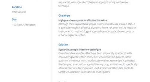 Case Study: Addressing Placebo Response