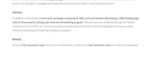 Patient Recruitment Marketing for Erectile Restoration Device