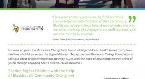 Customer Story: The Minnesota Vikings Foundation