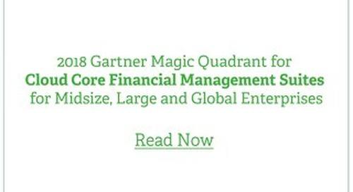 Gartner Magic Quadrant Sage Intacct 2018