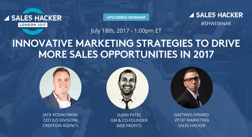 Innovative Marketing Strategies To Drive More Sales Opportunities in 2017