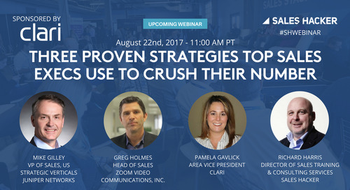 Three Proven Strategies Top Sales Execs Use To Crush Their Number