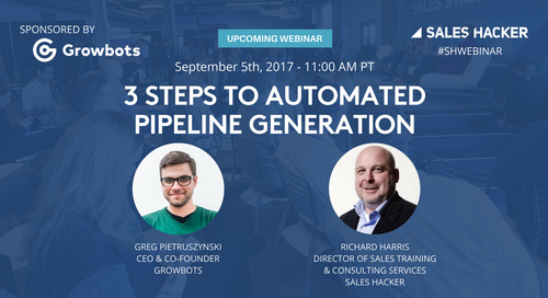 3 Steps to Automated Pipeline Generation