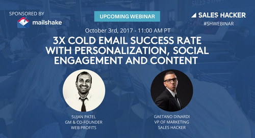 3x Cold Email Success Rate with Personalization, Social Engagement and Content