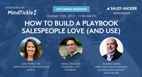 How to Build a Playbook Salespeople Love (and Use)