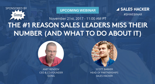 The #1 Reason Sales Leaders Miss Their Number (and What to Do About It)