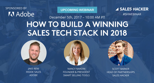 How to Build a Winning Sales Tech Stack in 2018