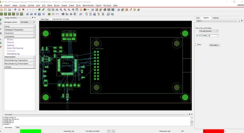 OrCAD PCB Editor Tutorial: 06. Set Up Differential Pairs and Constraint Manager