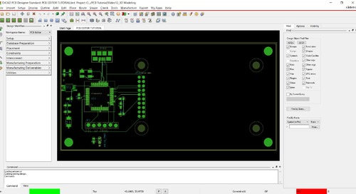 OrCAD PCB Editor Tutorial: 12. 3D Modeling and Collision Detection