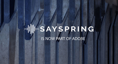 Voice Platform Sayspring Acquired by Adobe
