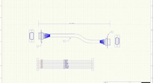 Cómo utilizar los dibujos esquemáticos de CAD para el montaje de cables (Parte 3): dibujos esquemáticos CAD para cables crimpados