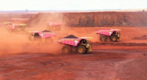 Second wave of Roy Hill pink trucks launched