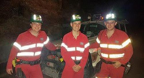 Tracking autonomous underground mining vehicles