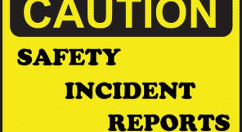 Dangerous incident– Impact to Excavator Windscreen