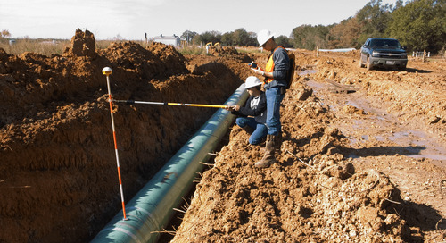 How do depth-of-cover surveys protect pipelines?