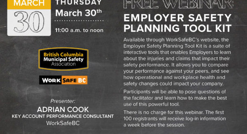 March 30: Webinar – Employer Safety Planning Tool Kit