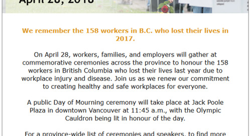 April 28, 2018 Day of Mourning