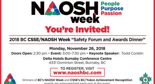 Nov 26: NAOSH Week Safety Forum & Awards Dinner