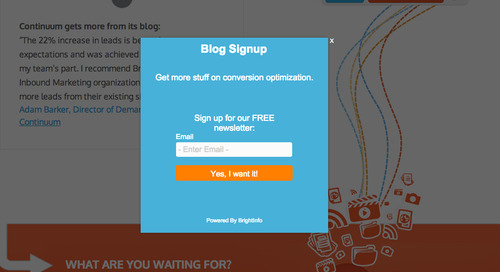 How BrightInfo Generates Leads From Your Business Blog