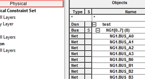 Customer Support Recommended - Working with NetGroups in OrCAD Capture