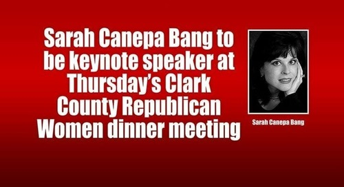 Sarah Canepa Bang to be keynote speaker at Thursday's Clark County Republican Women dinner meeting