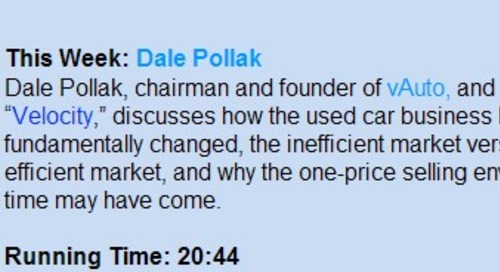 On-line interview:  An audio interview with Dale Pollak conducted by AutoSuccess, Inc.