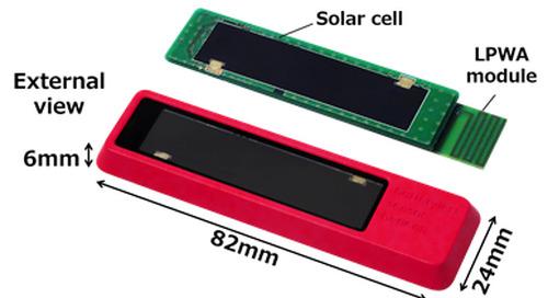 Solar powered LPWAN sensor eliminates battery replacement