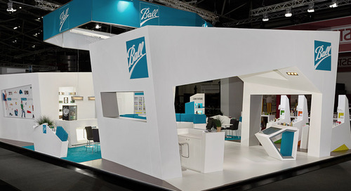 Ball Packaging Europe Refresh Audience with an Iceberg Inspired Stand at DRINKTEC, Munich