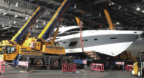 GES Handles the Heavy Lifting at Tullett Prebon London Boat Show