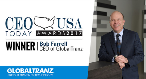 GlobalTranz Chairman and CEO Bob Farrell Named Winner of 2017 CEO Today Awards