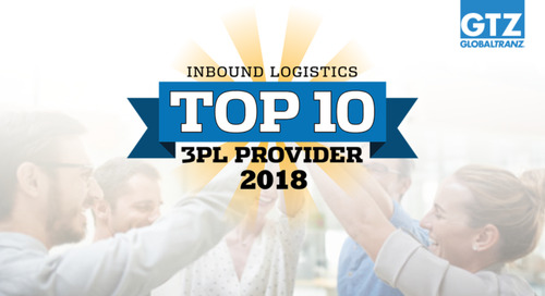 GlobalTranz Voted an Inbound Logistics Top 10 3PL for 2018