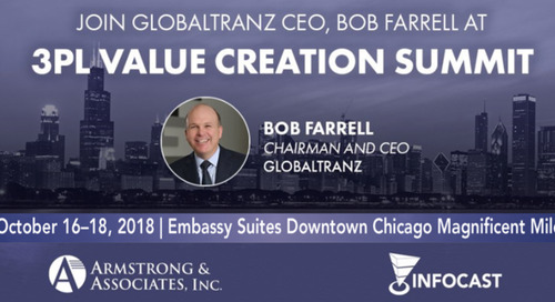 GlobalTranz CEO to Share Market Insights and Predictions with Others at the 3PL Value Creation NA Summit in Chicago, October 18, 2018