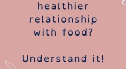 Improve our Relationship with Food