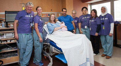 Welcome, Emily Isabelle: First baby born in new Labour & Delivery Unit