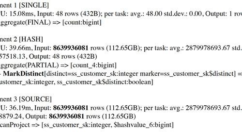 Presto Optimizations for Aggregations Over Distinct Values