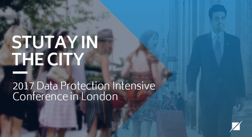 Stutay In The City - 2017 Data Protection Intensive Conference in London