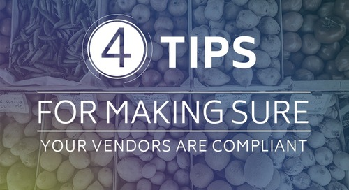 4 Tips for Making Sure Your Vendors are Compliant