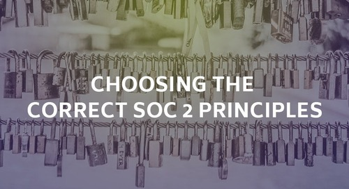 Choosing the Correct SOC 2 Principles