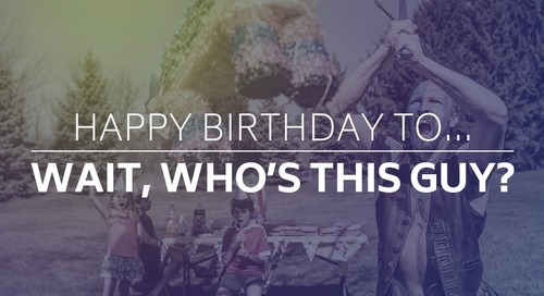 Happy birthday to… wait, who's this guy?