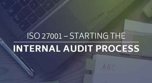 ISO 27001 – Starting the Internal Audit Process