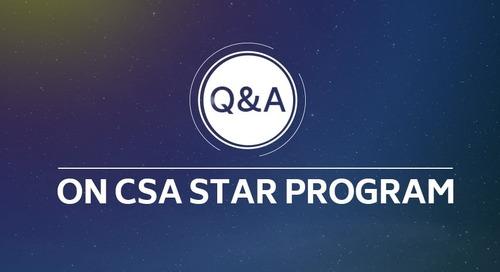 Q&A on CSA STAR Program